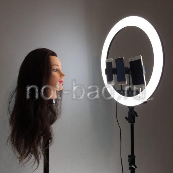 Кольцевая лампа светодиодная 45 см с пультом